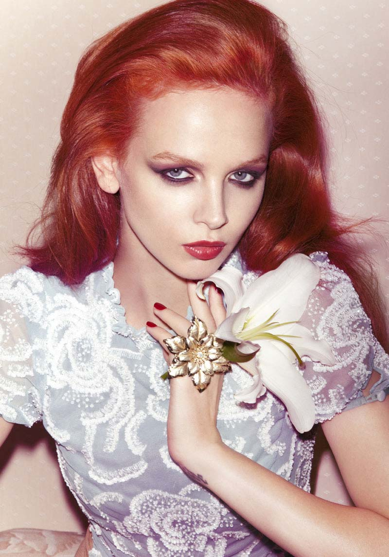 tiah eckhardt6 Fiery Beauties: 8 Famous Models with Red Hair