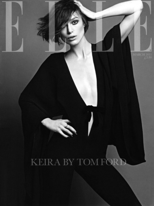 Elle UK March 2011 Cover | Keira Knightley by Terry Tsiolis