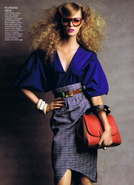 Sigrid Agren by Patrick Demarchelier for <em>Allure</em> February 2011