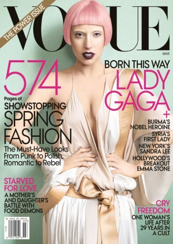 <em>Vogue US</em> March 2011 Cover | Lady Gaga by Mario Testino