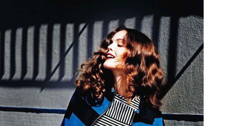 Annaleise Smith by Serge Leblon for Elle US April 2011