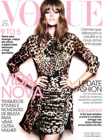 <em>Vogue Brazil</em> March 2011 Cover | Freja Beha Erichsen by Henrique Gendre