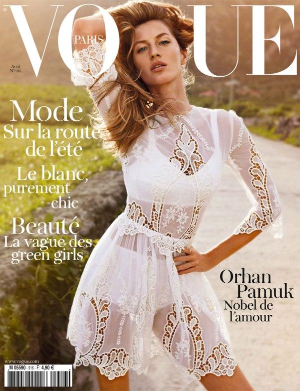 Vogue Paris April 2011 Cover | Gisele Bundchen by Inez & Vinoodh