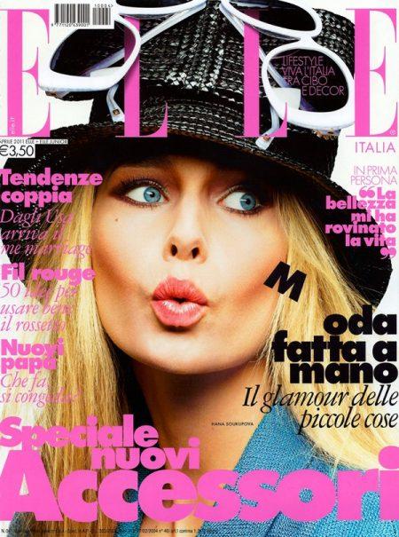 Elle Italia April 2011 Cover | Hana Soukupova by Alexei Hay