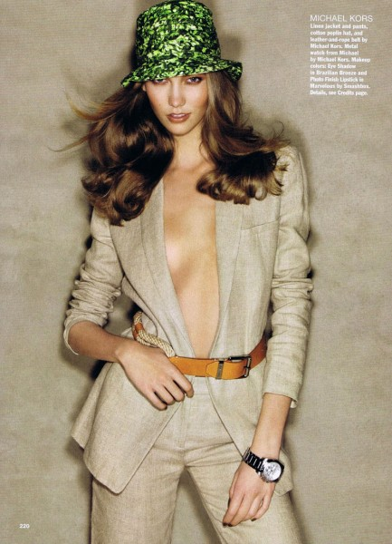 Karlie Kloss by Patrick Demarchelier for <em>Allure</em> March 2011
