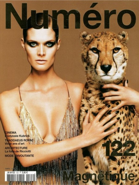 <em>Numéro</em> #122 April 2011 Cover | Malgosia Bela by Greg Kadel
