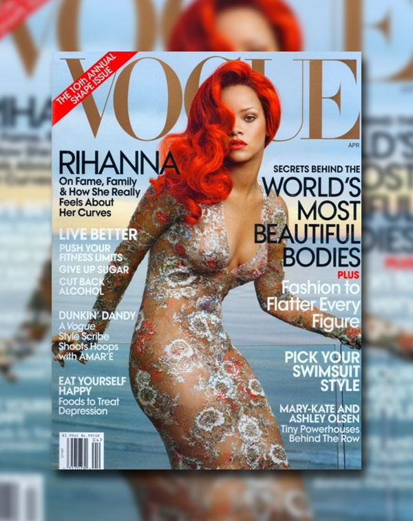 Vogue US April 2011 Cover | Rihanna by Annie Leibovitz