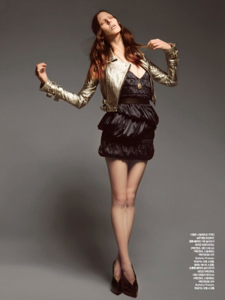 Ruby Aldridge in Burberry by Dancian for <em>Harper's Bazaar Korea</em>