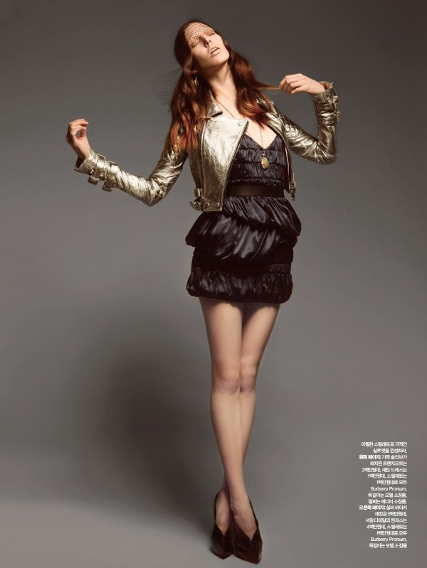 Ruby Aldridge in Burberry by Dancian for Harper's Bazaar Korea