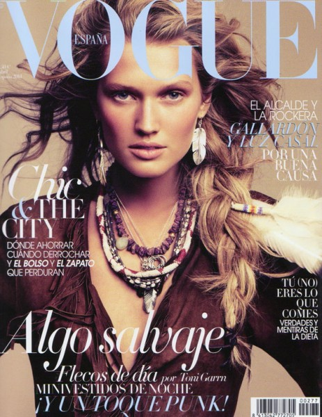 <em>Vogue Spain</em> April 2011 Cover | Toni Garrn by Alexi Lubomirski