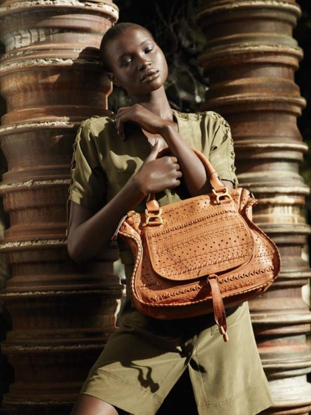 Ataui Deng by Mark Segal for <em>Bergdorf Goodman</em> Spring 2011