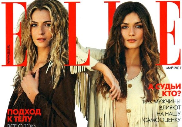 Elle Russia May 2011 Cover | Valentina Zelyaeva & Andreea Diaconu by David Burton
