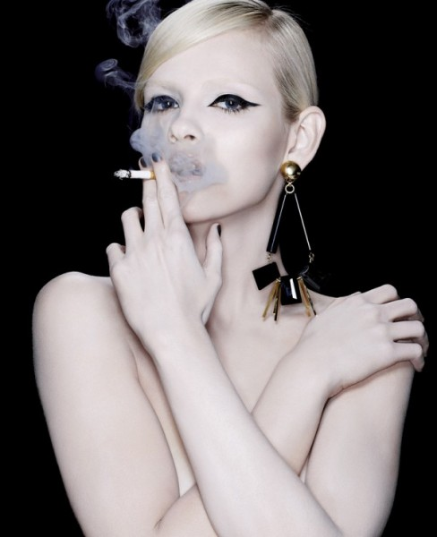Ginta Lapina by François Nars for Vogue Japan April 2011