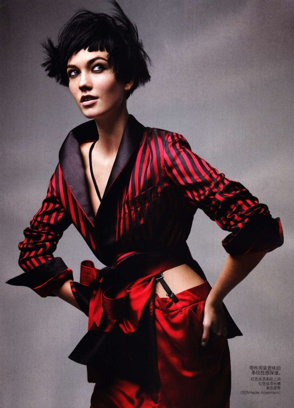 Karlie Kloss by Patrick Demarchelier for Vogue China May 2011