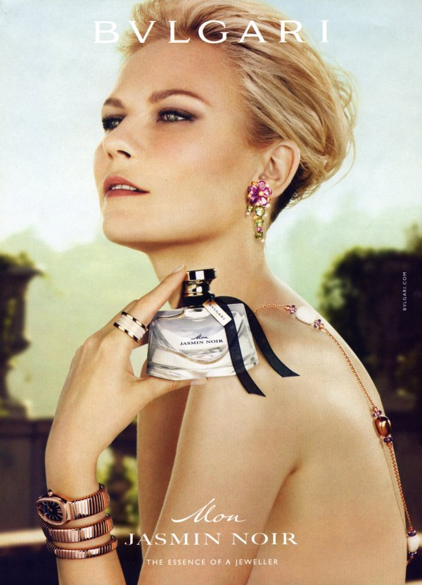 Kirsten Dunst for Bulgari Jasmin Noir Fragrance Campaign