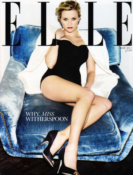 Elle UK May 2011 Cover   Reese Witherspoon by Ben Hassett