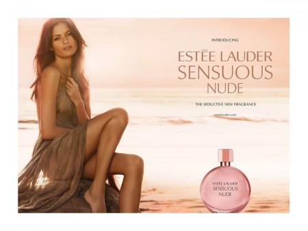 Isabeli Fontana for Estée Lauder Sensuous Nude Fragrance Campaign
