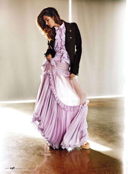 Lily Aldridge by Mark Pillai for Elle US June 2011