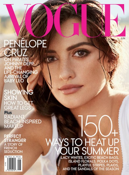 <em>Vogue US</em> June 2011 Cover | Penelope Cruz by Mario Testino