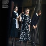 Lara Stone & Frida Gustavsson by Peter Lindbergh for <i>Vogue US</i> July 2011