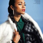 Zoe Saldana for <em>Harper&#8217;s Bazaar Russia</em> July/August 2011 by Bleacher &#038; Everard