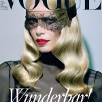<em>Vogue Germany</em> August 2011 Cover | Claudia Schiffer by Miles Aldridge