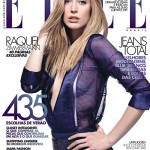 <em>Elle Brazil</em> August 2011 Cover | Raquel Zimmermann by Henrique Gendre