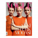 <em>Vogue Turkey</em> August 2011 Cover | Milly Simmonds, Egle Jezepcikaite & Yana Sotnikova by Cuneyt Akeroglu