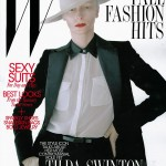 Tilda Swinton in Salvatore Ferragamo for <em>W Magazine</em> August 2011 (Cover)