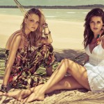 Isabeli Fontana & Caroline Trentini for Morena Rosa Spring 2012 Campaign by Jacques Dequeker