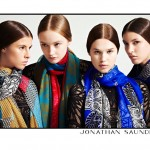 Anais Pouliot, Kate King, Dempsey Stewart & Isaac for Jonathan Saunders Resort 2012 by Blair Getz Mezibov