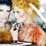 Daphne Groeneveld & Hailey Clauson by Mario Testino for <em>Allure</em>