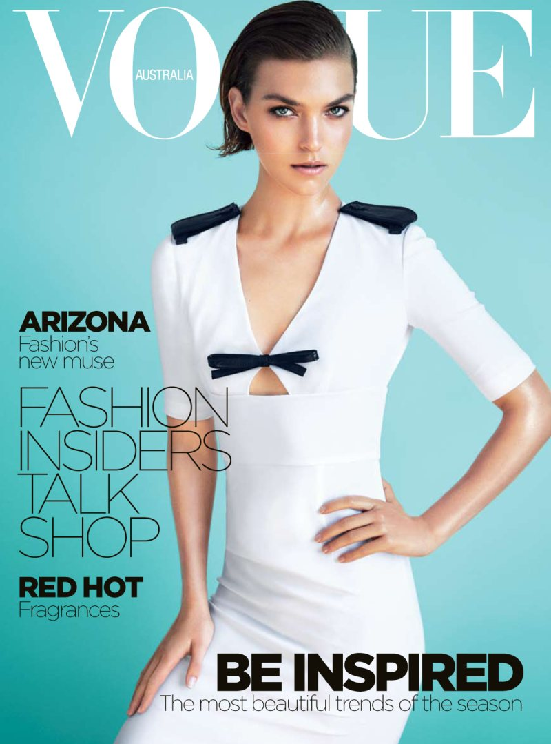 arizonacover1 Arizona Muse Gets Retro for Vogue Australias December 2013 Cover