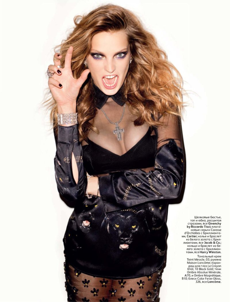 Daria Werbowy Shines On Fashion Canada S October 2013: Daria Werbowy By Terry Richardson For Vogue Russia October