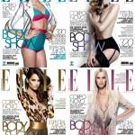 Isabeli Fontana, Izabel Goulart, Ana Beatriz Barros &#038; Renata Kuerten Cover <em>Elle Brazil</em> September 2011