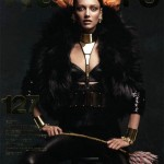 <em>Numéro</em> #127 October 2011 Cover | Karmen Pedaru by Greg Kadel