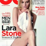 Lara Stone for <em>GQ UK</em> October 2011 by Mario Testino (Cover)