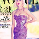 Sasha Pivovarova Covers <em>Vogue Paris</em> October 2011 in Atelier Versace