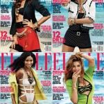 Adriana Lima, Miranda Kerr, Doutzen Kroes & Chanel Iman Cover <em>Elle US</em> October 2011