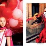 Xiao Wen by Stockton Johnson for <em>Vogue China</em> October 2011