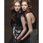 Laura Kell &amp; Gabrielle Lussier by Zhang Jingna for <i>Flare</i>