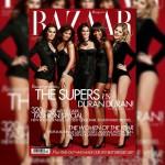 Naomi Campbell, Cindy Crawford, Helena Christensen, Eva Herzigova &#038; Yasmin le Bon Cover <em>Harper&#8217;s Bazaar UK</em> December 2011