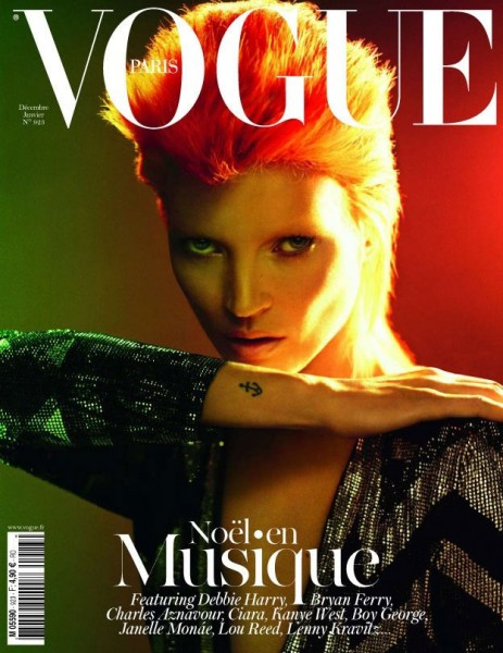 <em>Vogue Paris</em> December/January 2011.2012 Cover | Kate Moss by Mert &#038; Marcus