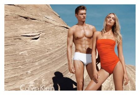 Lily Donaldson for Calvin Klein Swim Spring 2012 Campaign by Sebastian Kim
