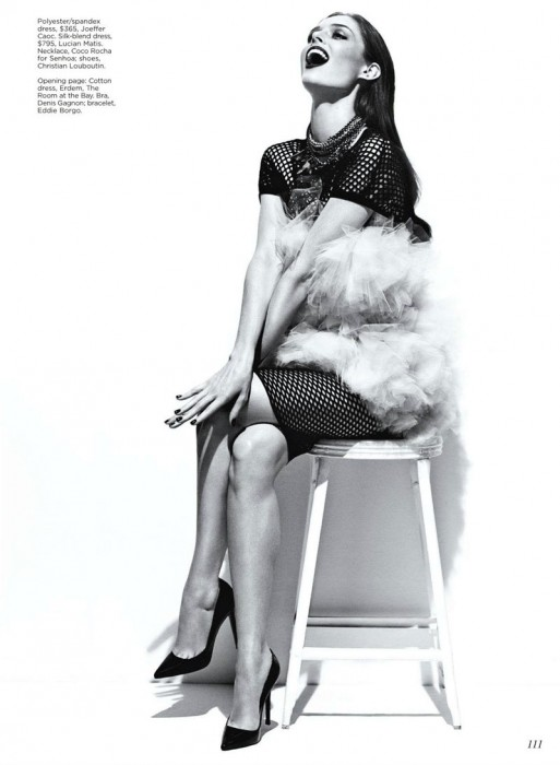 Coco Rocha by Chris Nicholls for Flare February 2012