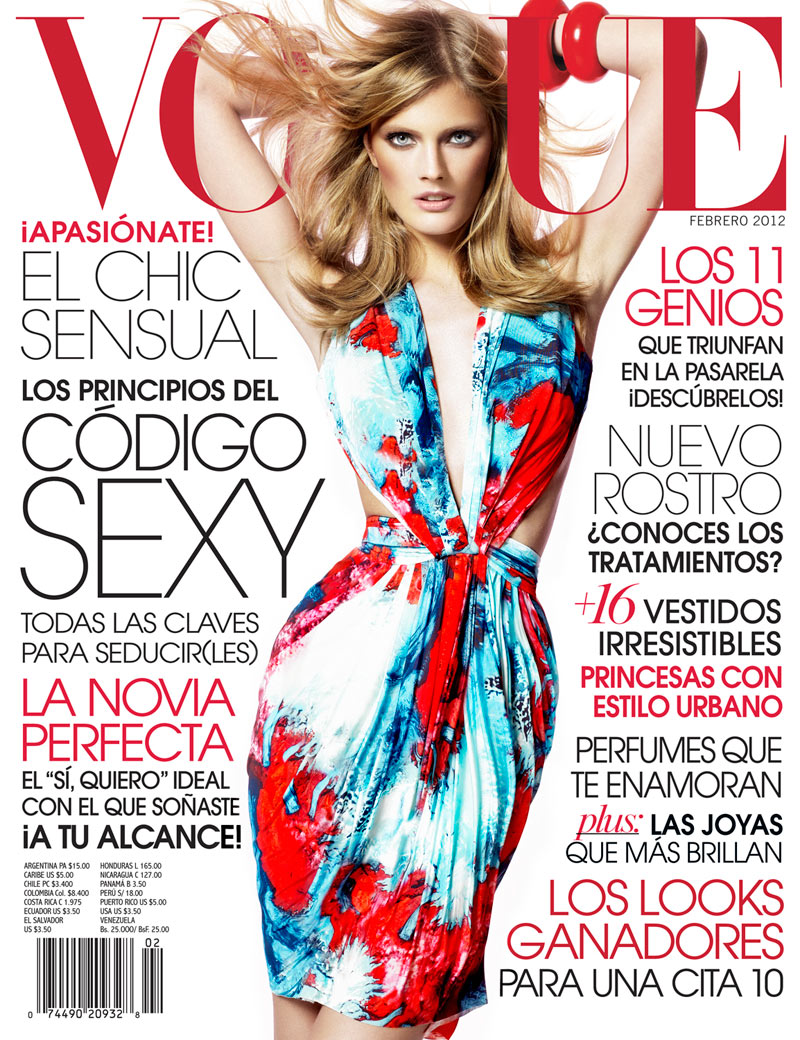 Vogue Latin America February 2012 Cover | Constance Jablonski by Jean-François Campos