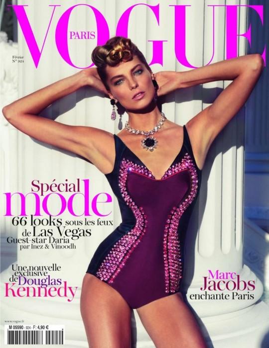 Vogue Paris February 2012 Cover | Daria Werbowy by Inez & Vinoodh