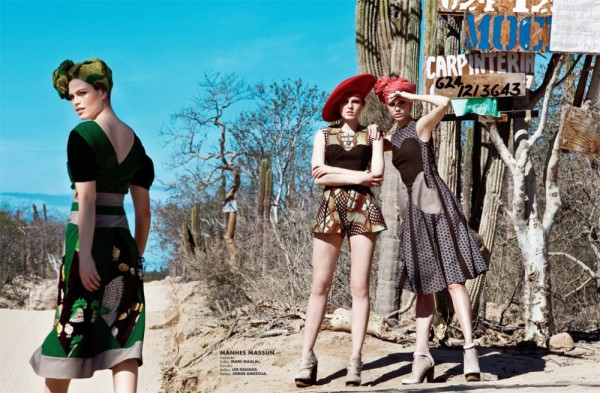 Anna, Polina & Maxine by Santiago Ruisenor for <em>Elle Mexico</em> February 2012
