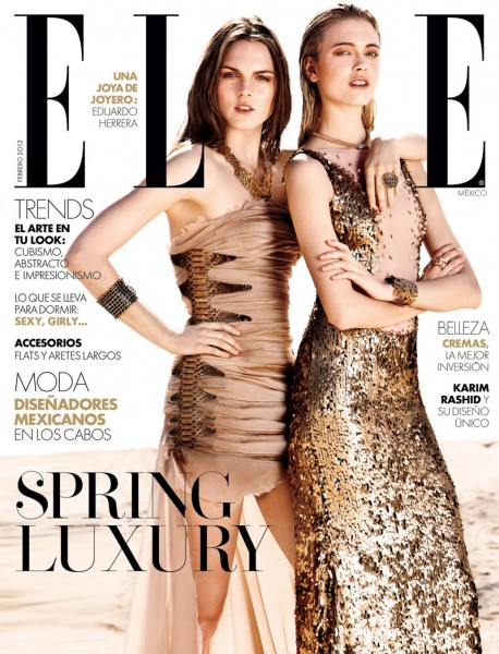 <em>Elle Mexico</em> February 2012 Cover | Anna & Polina by Santiago Ruisenor