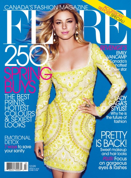 <em>Flare</em> March 2012 Cover | Emily VanCamp by Chris Nicholls